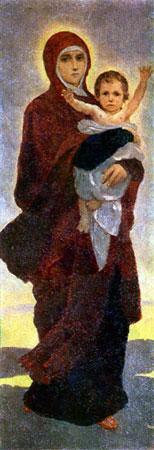Богоматерь с младенцем Васнецов В.М.