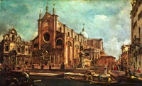 Площадь перед Санти Джованни э Паоло в Венеции