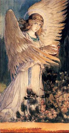 Ангел со светильником. Васнецов В.М.