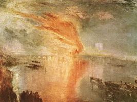 Пожар парламента (Дж. Тернер, 1835 г.)