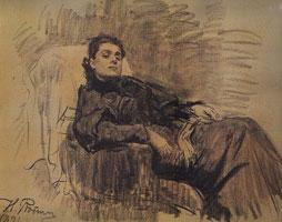 Портрет Элеоноры Дузе (И.Е. Репин)