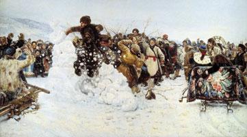 Взятие снежного городка (В.И. Суриков)