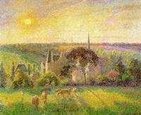 Сельская местность. Церковь и ферма в Эраньи (К. Писсаро, 1895 г.)