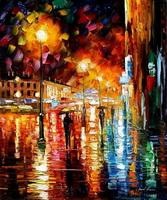 Дождь в ночном городе (Л. Афремов)