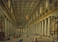 Панини, Джованни Паоло - Внутренний вид церкви Санта-Мария Маджоре в Риме