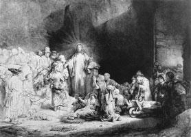 Маленькие дети, пришедшие к Иисусу (Рембрандт)