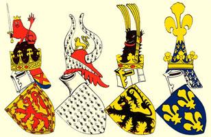 Гербовые щиты королей и герцогов