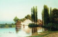 Пейзаж с рекой в Малороссии
