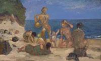 Женщины и дети у моря (Х. Метцкес)