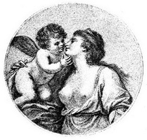 Сафо и Амур (Карандашная манера)