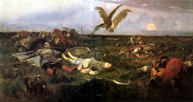 После побоища Игоря Святославича с половцами. Васнецов В.М.