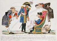 Карикатура на Наполеона (И.И. Теребнев, лубок)