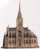 """Макет церкви """"Сен-Клу"""" в Руане"""