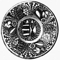 Тарелка декорированная пастилажем