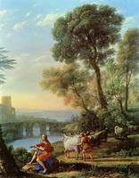 Пейзаж с Аполлоном и Меркурием (К. Лоррен)