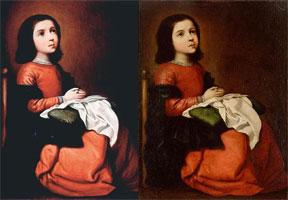 Детство Богородицы (Ф. де Сурбаран и В. Нестеренко)