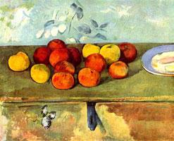 Натюрморт с яблоками и печеньем (П. Сезанн)