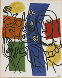 Девушка с цветком (Ф. Леже)