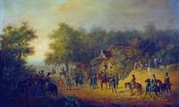Приезд Николая I в лагерь (А.И. Зауервейд)