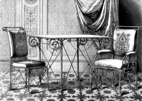 Металлическая мебель (Вена, 1875 г.)