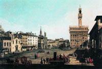 Площадь Синьории во Флоренции (Б. Беллотто)