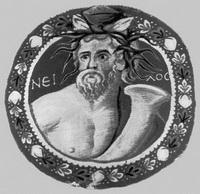 Ткань с изображением бога Нила (4 век)