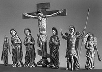 Распятие с предстоящими (скульптура, дерево, XVIII в.)