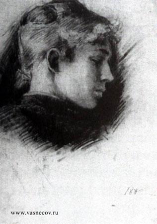 Портрет В.П. Третьяковой. Васнецов В.М.
