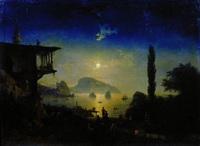 Лунная ночь в Крыму. Гурзуф. (И.К. Айвазовский, 1839 г.)
