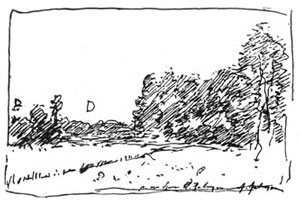 Рисунок пером (И.И. Левитан)