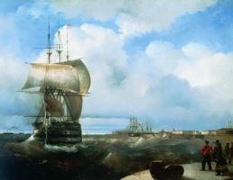 Большой рейд в Кронштадте (И.К. Айвазовский, 1836 г.)