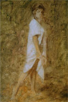 Девушка (подмалёвок)