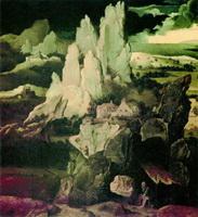Святой Иероним в скалистом пейзаже