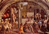 Рафаэль. Настенная фреска Пожар в Борго