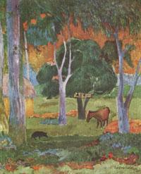 Пейзаж на острове Доминик (П. Гоген)