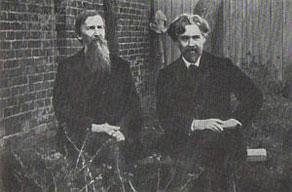 В.М. Васнецов и В.И. Суриков в саду дома