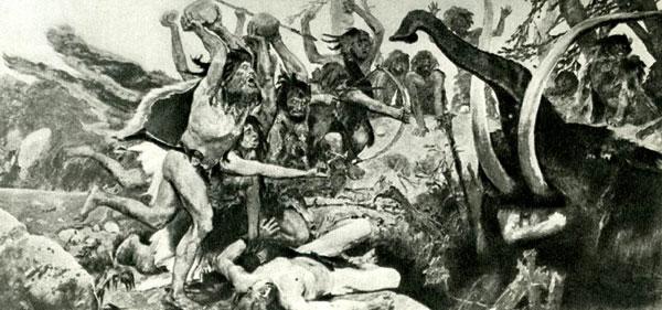 Каменный век Охота на мамонта. Васнецов В.М.