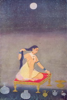 Радха в лунном свете (1650 г.)