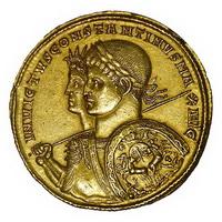 Монета императора Константина Великого (IV век)