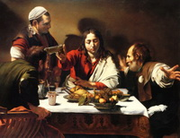 Реплика картины Караваджо Ужин в Эммаусе (Я. Олиехоек)