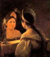 Святочные гадания. Картина К.П.Брюллова